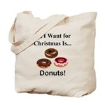 Christmas Donuts Tote Bag