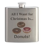 Christmas Donuts Flask