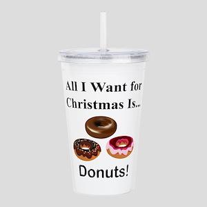 Christmas Donuts Acrylic Double-wall Tumbler