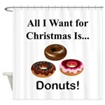 Christmas Donuts Shower Curtain