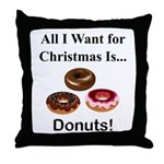 Christmas Donuts Throw Pillow