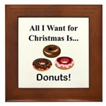 Christmas Donuts Framed Tile