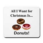 Christmas Donuts Mousepad
