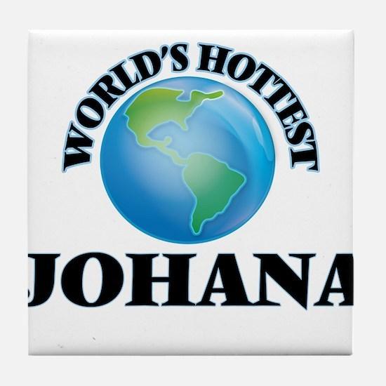 World's Hottest Johana Tile Coaster