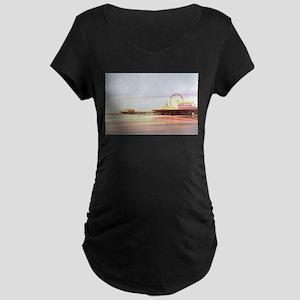 Santa Monica Pier Sunrise Maternity T-Shirt