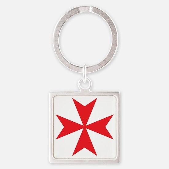 Red Maltese Cross Keychains