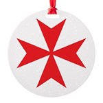 Red Maltese Cross Ornament