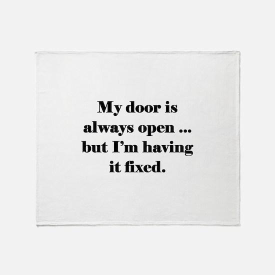 Open Door Throw Blanket