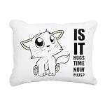 Hugs Time Rectangular Canvas Pillow