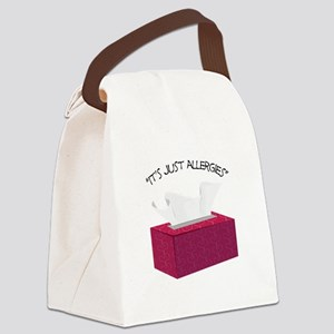 It's Just Allergies Canvas Lunch Bag