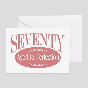 70th aged to perfection Greeting Cards (Package of