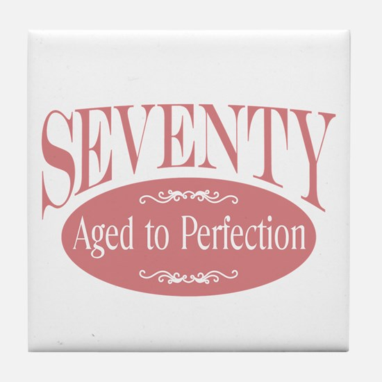 70th aged to perfection Tile Coaster
