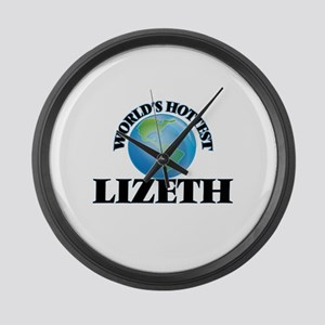 World's Hottest Lizeth Large Wall Clock