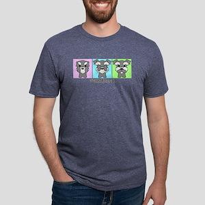 Schnauzer Mens Tri-blend T-Shirt