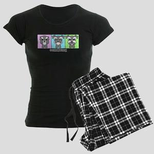 Schnauzer Women's Dark Pajamas