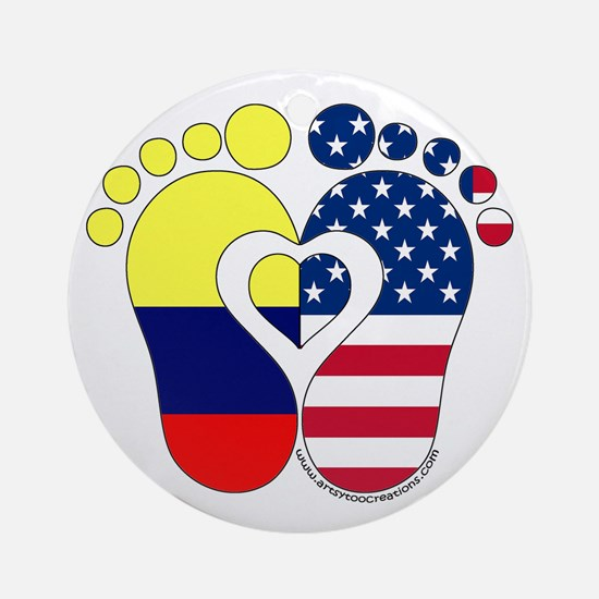 Colombian American Baby Ornament (Round)