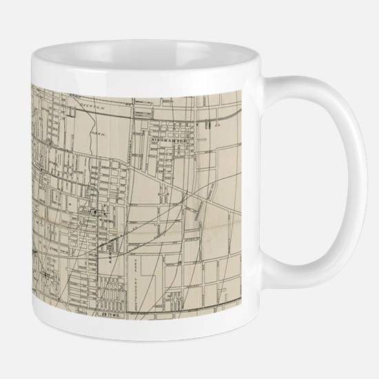 Vintage Map of Memphis Tennessee (1911) Mugs