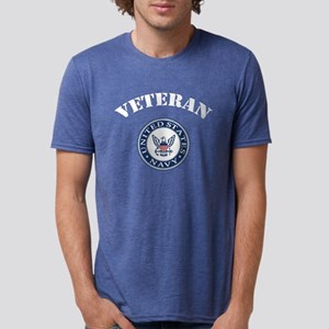 U. S. Navy Veteran Mens Tri-blend T-Shirt