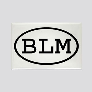 BLM Oval Rectangle Magnet