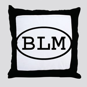 BLM Oval Throw Pillow