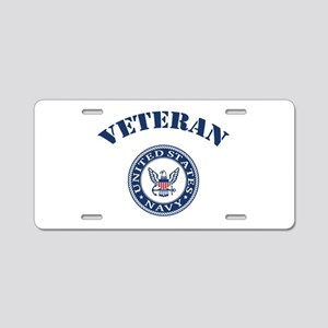 U. S. Navy Veteran Aluminum License Plate