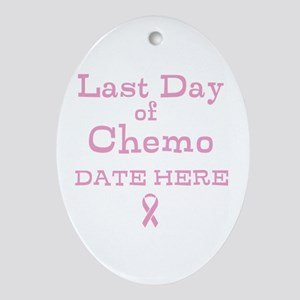 Last Day of Chemo Ornament (Oval)