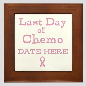 Last Day of Chemo Framed Tile