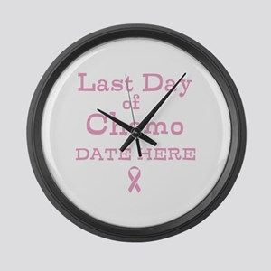 Last Day of Chemo Large Wall Clock
