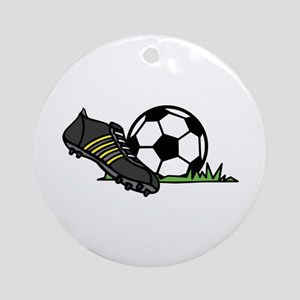 Ball & Cleats Ornament (Round)