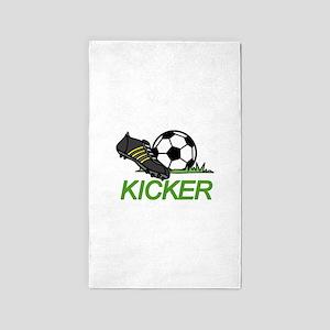 Soccer Kicker 3'x5' Area Rug