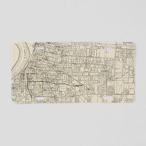 Vintage Map of Memphis Tenn Aluminum License Plate