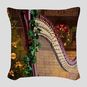 Holly Harp Woven Throw Pillow