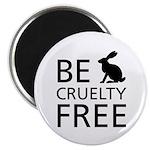 Be Cruelty-Free Bunny Logo Magnets
