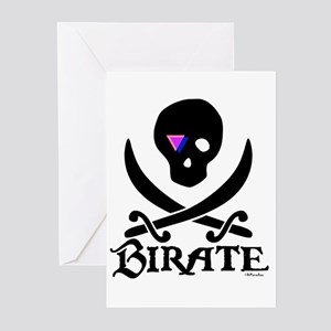 Birate (bi colored patch) Greeting Cards (Package