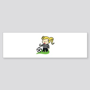 Referee Girl Bumper Sticker