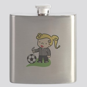 Referee Girl Flask