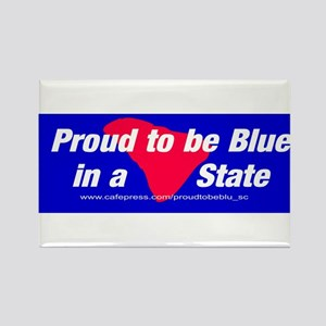 Proud to be Blue Rectangle Magnet