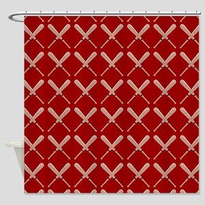 Baseball Bat Pattern Shower Curtain