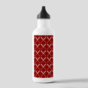 Baseball Bat Pattern Water Bottle