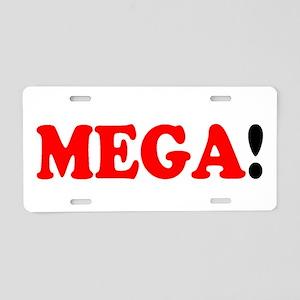 MEGA! Aluminum License Plate
