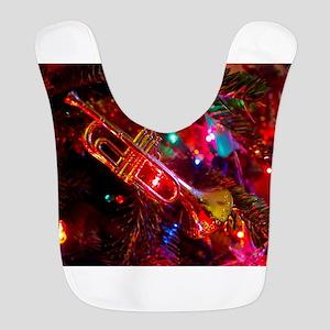 Musical Holiday Polyester Baby Bib