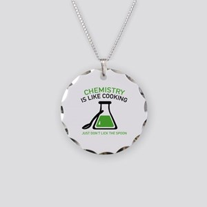 Chemistry Is Like Cooking Necklace Circle Charm