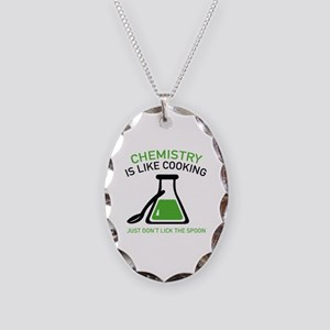 Chemistry Is Like Cooking Necklace Oval Charm