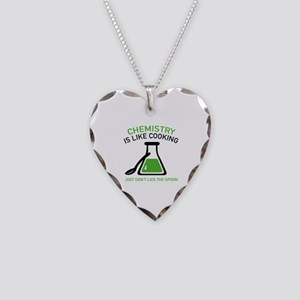 Chemistry Is Like Cooking Necklace Heart Charm