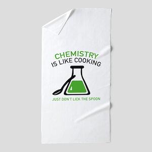 Chemistry Is Like Cooking Beach Towel