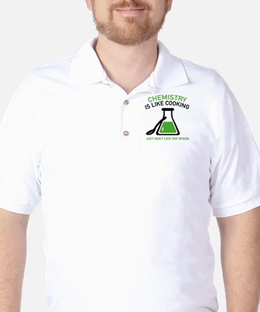 Chemistry Is Like Cooking Golf Shirt