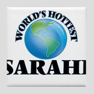 World's Hottest Sarahi Tile Coaster