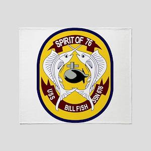 USS Billfish (SSN 676) Throw Blanket