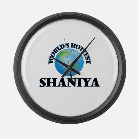 World's Hottest Shaniya Large Wall Clock