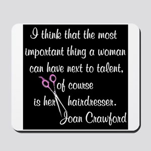 CRAWFORD HAIR QUOTE Mousepad